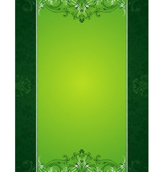 Green patrick background with shamrock vector