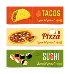 Food banners set vector