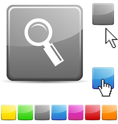 Searching glossy button vector