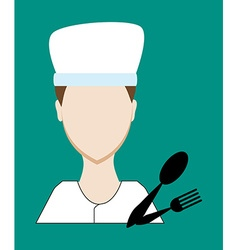 Profession people cook face male uniform avatars vector