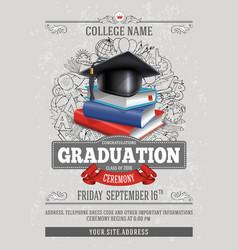 Graduation template vector