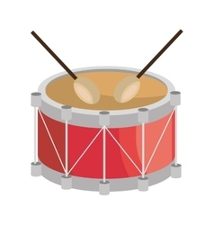 Drum music instrument icon design vector