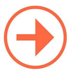 arrow sign flat circle icon vector image