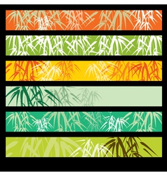 Bamboo pattern banners vector