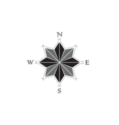 Black windrose sign vector