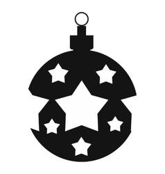Christmas ball simple icon vector image