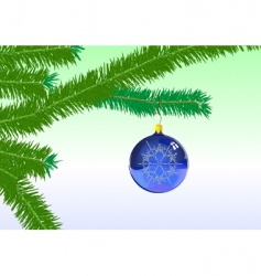 Christmas tree ornaments vector image vector image