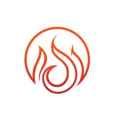 Circular flames emblem symbol design vector