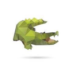 Crocodile abstract isolated on a white backgrounds vector image
