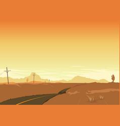 desert landscape poster background vector image vector image
