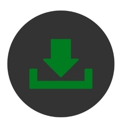 Download flat green and gray colors round button vector