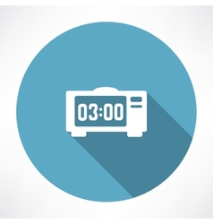 electronic clock icon vector image vector image