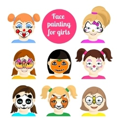 Face painting 9 vector