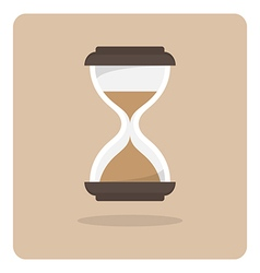 Flat icon hourglass vector