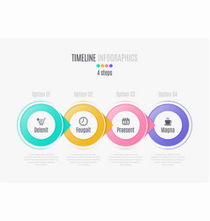 four steps infographic timeline presentation vector image vector image