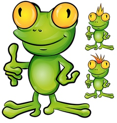 frog cartoon set vector image