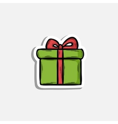 Gift icon vector image vector image