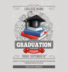 Graduation template vector