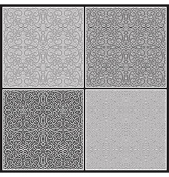 Grey patterns vector image vector image