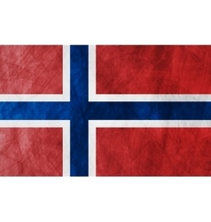 Grunge flag norway vector
