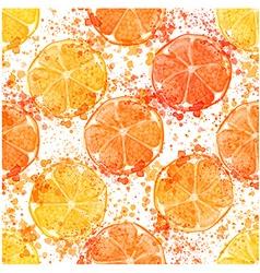 Hand drawn watercolor seamless pattern of lemon vector