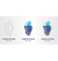 icon of the iceberg vector image vector image