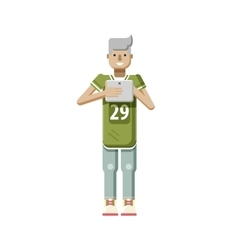 isolated of European blonde man in vector image vector image