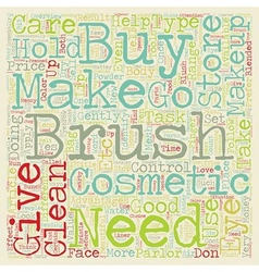 Makeup brushes text background wordcloud concept vector
