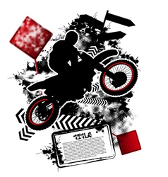 motorcycle grunge vector image vector image