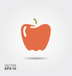 paprika flat icon colorful logo vector image vector image