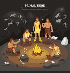 Primal tribe people vector