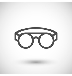 Protective welding goggles line icon vector