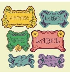 Set of ornate vintage labels vector image
