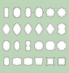 set of vintage frames background vector image