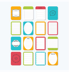 Sheets of paper cute design elements collection vector