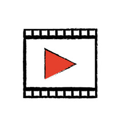 Strip film play cinema movie symbol vector