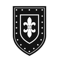 Unique shield simple sign vector