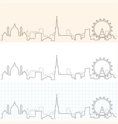 vienna hand drawn skyline vector image