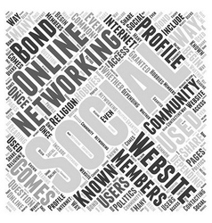 What is Social Networking Word Cloud Concept vector image vector image
