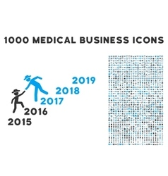 Years Guys Help Icon with 1000 Medical Business vector image vector image