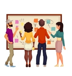 Young creative business people brainstorming ideas vector image vector image