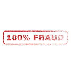 100 percent fraud rubber stamp vector image vector image