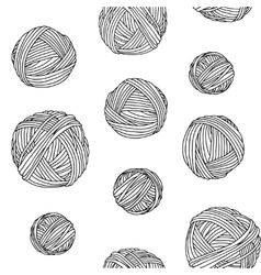 Yarn skeins seamless background vector