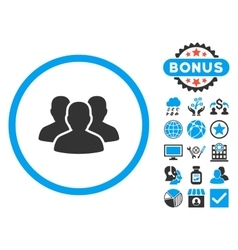 User group flat icon with bonus vector