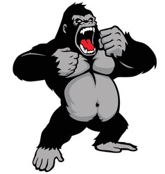 Awesome kingkong standing vector