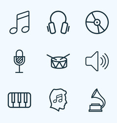 music outlines set collection of plastic barrel vector image