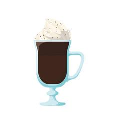 Chocolate milkshake dessert vector