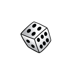 White dice risk taker gamble art vector