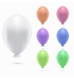 Modern balloons set on white background vector