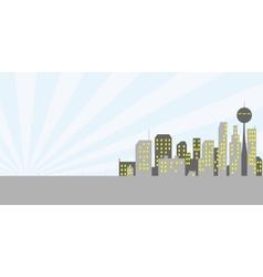 Retro metropolice vector image